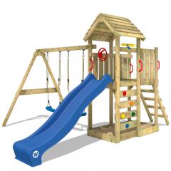 Complex de joacă Wickey MultiFlyer cu acoperiș din lemn